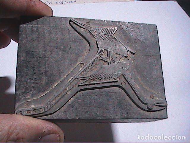 Antigüedades: LOTE DE 2 GRABADOS GALVANOS IMPRENTA Y 2 NEGATIVOS EN PLANCHA IMPRENTA.FINALES DEL S.XIX.TARRAGONA. - Foto 3 - 67039870