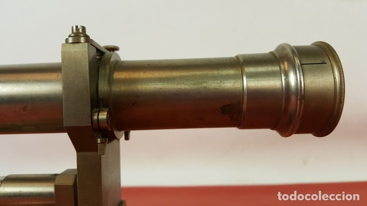 Antigüedades: TEODOLITO DE PRECISION. ATELIERS H.MORIN AND GENSSE. METAL. SIGLO XX. - Foto 4 - 67087785