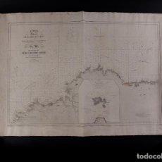 Antigüedades: CARTA NÁUTICA DESDE PUNTA BARROCO 1847. Lote 67314953