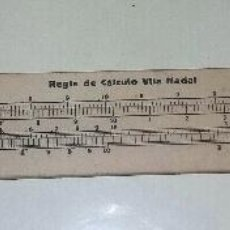 Antigüedades: ANTIGUA REGLA DE CALCULO VILA NADAL. CARTON DURO. AÑO 1920'S.. Lote 70578651
