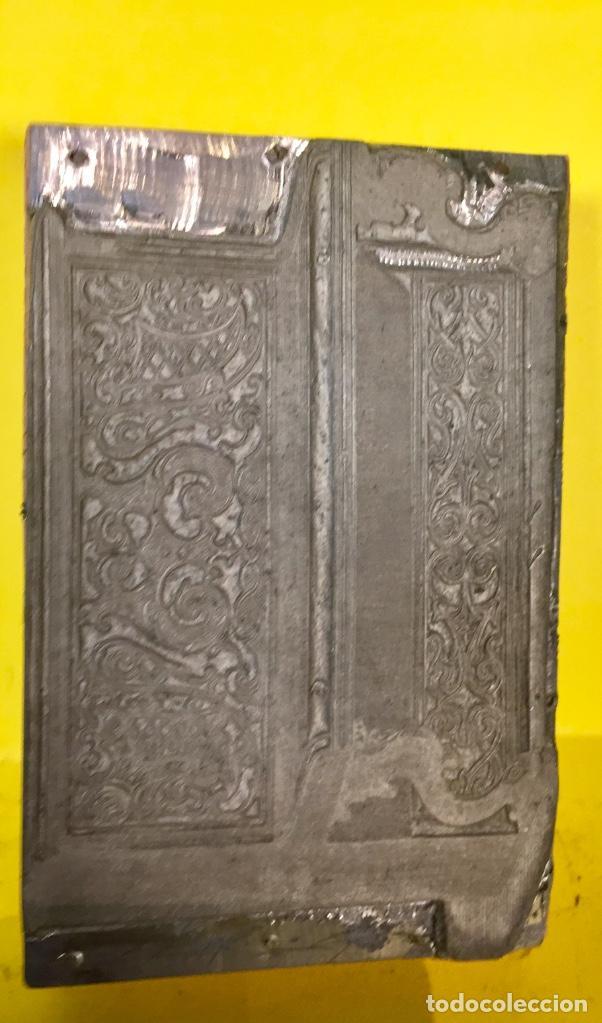 Antigüedades: plancha grabado zinc excavada constructores pianos piano musica madrid no firma 2x7,5x11,5cms - Foto 3 - 67497333
