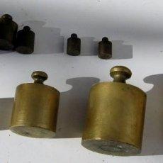 Antigüedades: JUEGO DE 9 PESAS. Lote 67966089