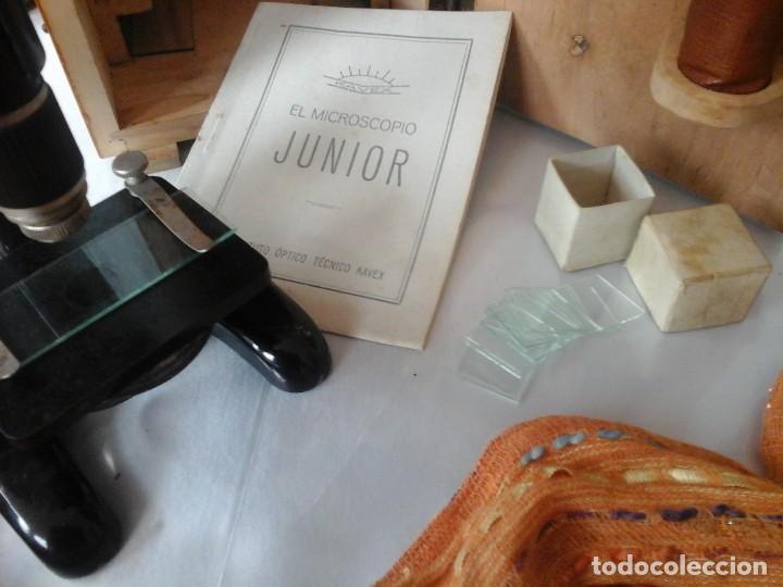 Antigüedades: MICROSCOPIO JUNIOR ANTIGUO AÑOS 70. CAJA ORIGINAL. OLD MICROSCOPE ORIGINAL BOX: - Foto 5 - 120876234