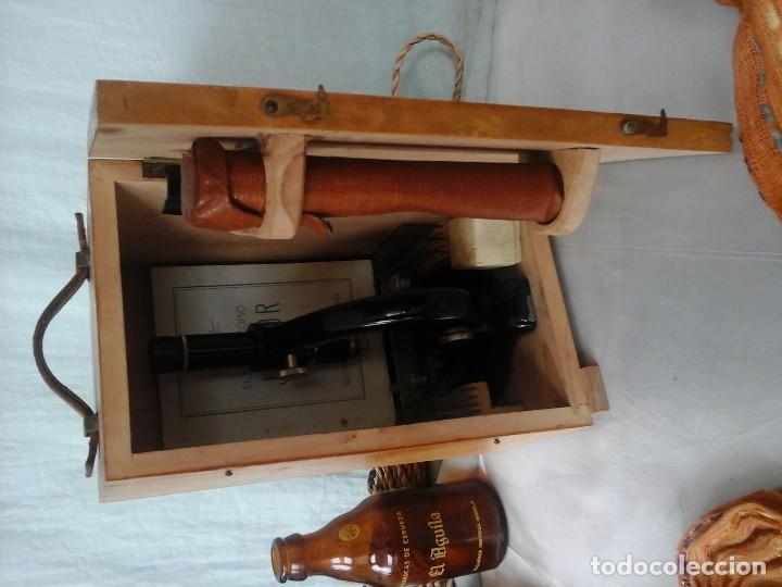 Antigüedades: MICROSCOPIO JUNIOR ANTIGUO AÑOS 70. CAJA ORIGINAL. OLD MICROSCOPE ORIGINAL BOX: - Foto 8 - 120876234