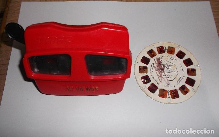 ANTIGUO VISOR DE DIAPOSITIVAS MARCA SUPER 3D VIEWER. (Antigüedades - Técnicas - Aparatos de Cine Antiguo - Visores Estereoscópicos Antiguos)
