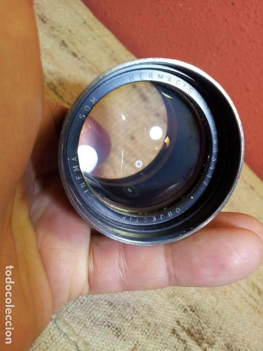 Antigüedades: HERMAGIS Paris Cinema lens F=125 mm No.683447 para proyector - Foto 7 - 68361853