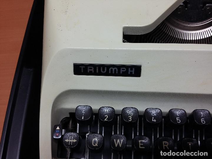 Antigüedades: maquina escribir triumph gabriele 25 - Foto 2 - 68508985