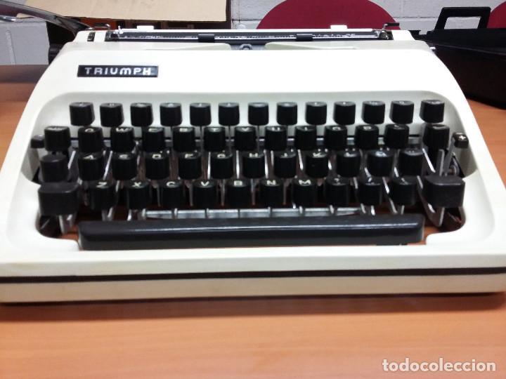 Antigüedades: maquina escribir triumph gabriele 25 - Foto 4 - 68508985