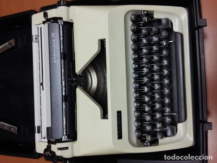 Antigüedades: maquina escribir triumph gabriele 25 - Foto 7 - 68508985