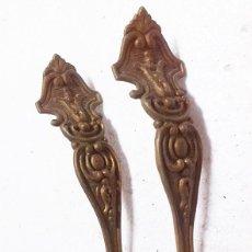 Antigüedades: 2 TIRADORES DE BRONCE. Lote 68585185