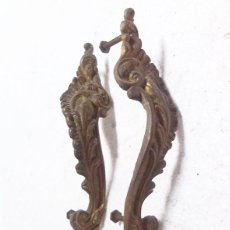 Antigüedades: 2 TIRADORES DE BRONCE. Lote 68585593