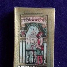 Antigüedades: CAJA CON 10 HOJAS DE AFEITAR (CUCHILLA). TOLEDO ORO. CON SELLO DE ADUANA. SIN USAR.. Lote 68595341