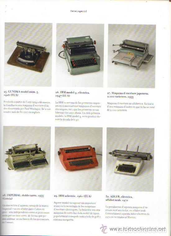 Antigüedades: LA MÀQUINA D`ESCRIURE EINA DE TREBALL PEÇA DE MUSEU LIBRO EXPOSICIÓN 2007 máquina de escribir - Foto 2 - 68664285