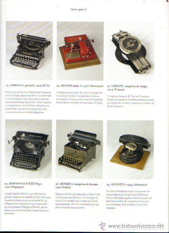 Antigüedades: LA MÀQUINA D`ESCRIURE EINA DE TREBALL PEÇA DE MUSEU LIBRO EXPOSICIÓN 2007 máquina de escribir - Foto 3 - 68664285