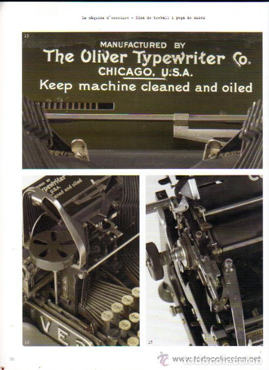 Antigüedades: LA MÀQUINA D`ESCRIURE EINA DE TREBALL PEÇA DE MUSEU LIBRO EXPOSICIÓN 2007 máquina de escribir - Foto 4 - 68664285