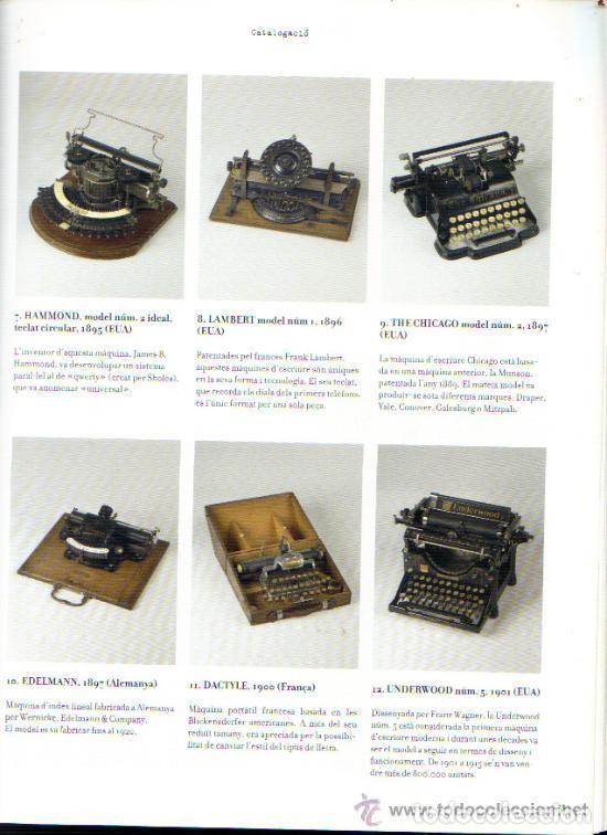 Antigüedades: LA MÀQUINA D`ESCRIURE EINA DE TREBALL PEÇA DE MUSEU LIBRO EXPOSICIÓN 2007 máquina de escribir - Foto 9 - 68664285
