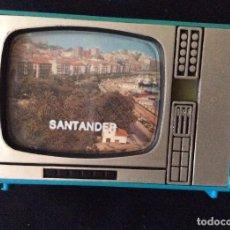Antigüedades: ANTIGUO VISOR FORMA DE TELEVISION AÑOS 70 DE SANTANDER - MADE IN SPAIN. Lote 68960541