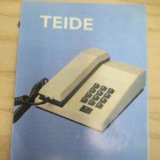 Teléfonos: CATALOGO TELEFONICA TEIDE. Lote 69293937