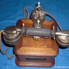 Teléfonos: ANTIGUO Y PRECIOSO TELEFONO DE MADERA MODELO 1910. Lote 69476973