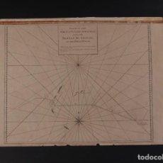Antigüedades: CARTA NÁUTICA DEL CALCUTTA EAST INDIAMAN SIGLO XVIII. Lote 69597077