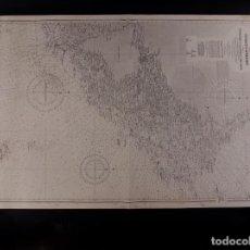 Antigüedades: CARTA NÁUTICA DE LA COAST OF SWEDEN 1965. Lote 69597757
