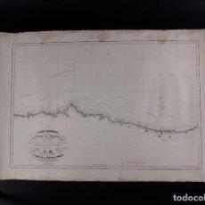 Antigüedades: CARTA NÁUTICA DE LA COSTA DE ASTURIAS 1846. Lote 69597973