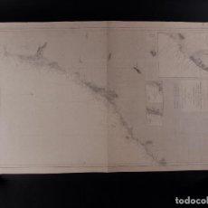 Antigüedades: CARTA NÁUTICA DESDE LA TORRE DE LA MESA 1876. Lote 69598801