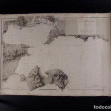 Antigüedades: CARTA NÁUTICA DE LA RADA DE TOLÓN 1881. Lote 69604761