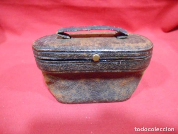 ANTIGUA FUNDA DE PRISMATICOS DE PIEL (Antigüedades - Técnicas - Instrumentos Ópticos - Prismáticos Antiguos)