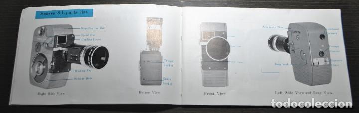 Antigüedades: CAMARA DE CINE O TOMAVISTAS SANKYO 8-L CON ZOOM + CAJA ORIGINAL + MANUAL - Foto 16 - 69745909