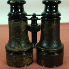 Antigüedades: BINOCULARES EN METAL Y CUERO. 10 VERRES. FRANCIA. SIGLO XIX-XX. . Lote 69819105