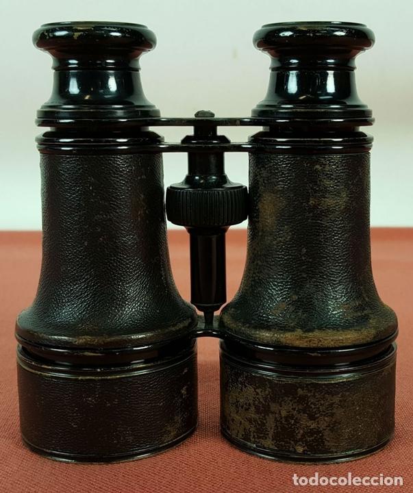 Antigüedades: BINOCULARES EN METAL Y CUERO. 10 VERRES. FRANCIA. SIGLO XIX-XX. - Foto 2 - 69819105