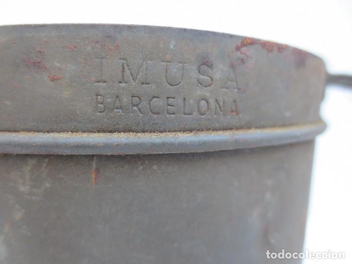 Antigüedades: ANTIGUA MEDIDA DE LITRO EN CHAPA - IMUSA BARCELONA- - Foto 2 - 69869749