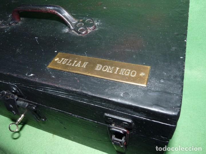 Antigüedades: CURIOSA CAJA HERRAMIENTAS ANTIGUA MADERA USO DECORACION INDUSTRIAL - Foto 3 - 111763824