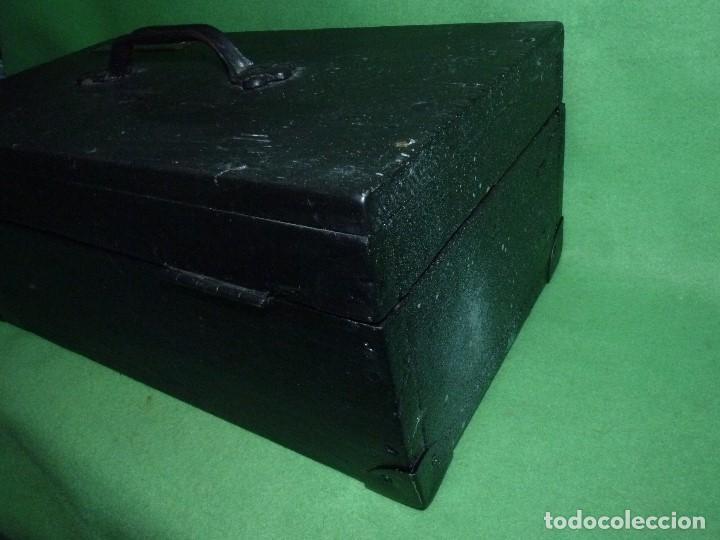Antigüedades: CURIOSA CAJA HERRAMIENTAS ANTIGUA MADERA USO DECORACION INDUSTRIAL - Foto 4 - 111763824