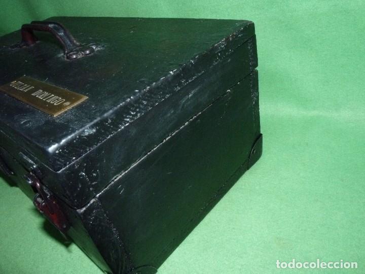 Antigüedades: CURIOSA CAJA HERRAMIENTAS ANTIGUA MADERA USO DECORACION INDUSTRIAL - Foto 5 - 111763824