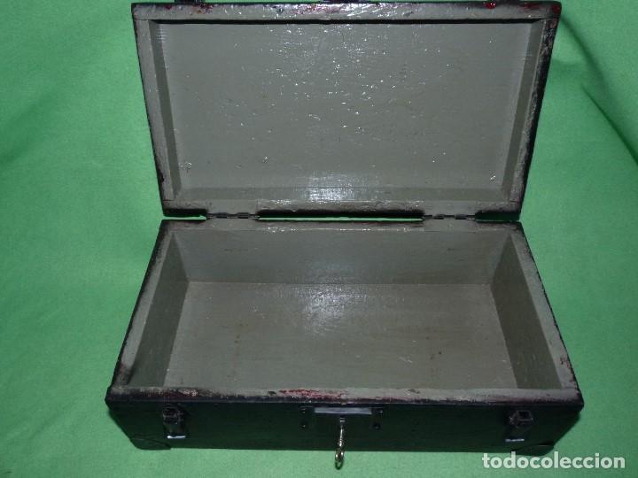 Antigüedades: CURIOSA CAJA HERRAMIENTAS ANTIGUA MADERA USO DECORACION INDUSTRIAL - Foto 8 - 111763824