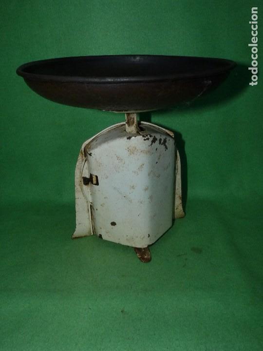 Antigüedades: Preciosa báscula AWR antigua balanza ALEMANA escala esmalte peso hierro colado Art Deco finales XIX - Foto 3 - 69952889