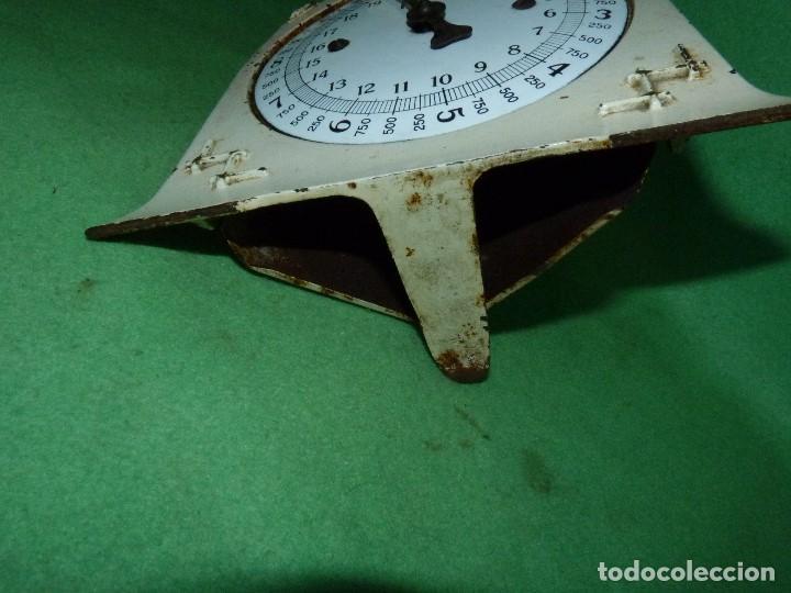 Antigüedades: Preciosa báscula AWR antigua balanza ALEMANA escala esmalte peso hierro colado Art Deco finales XIX - Foto 6 - 69952889