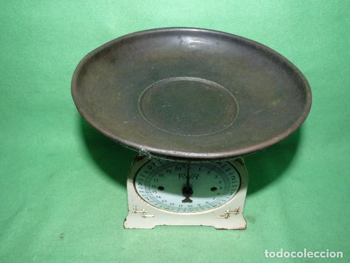 Antigüedades: Preciosa báscula AWR antigua balanza ALEMANA escala esmalte peso hierro colado Art Deco finales XIX - Foto 7 - 69952889