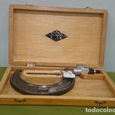 Antigüedades: CALIBRADOR , MICRÓMETRO DE LA MARCA E.J.E. RANGO 75-100 MM, CON CAJA Y SELLO DE GARANTÍA. . Lote 69996161