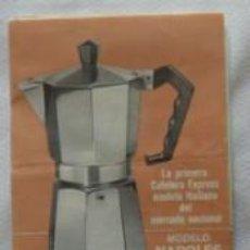 Antigüedades: FOLLETO CAFETERA NAPOLES, MAGEFESA. Lote 70015533