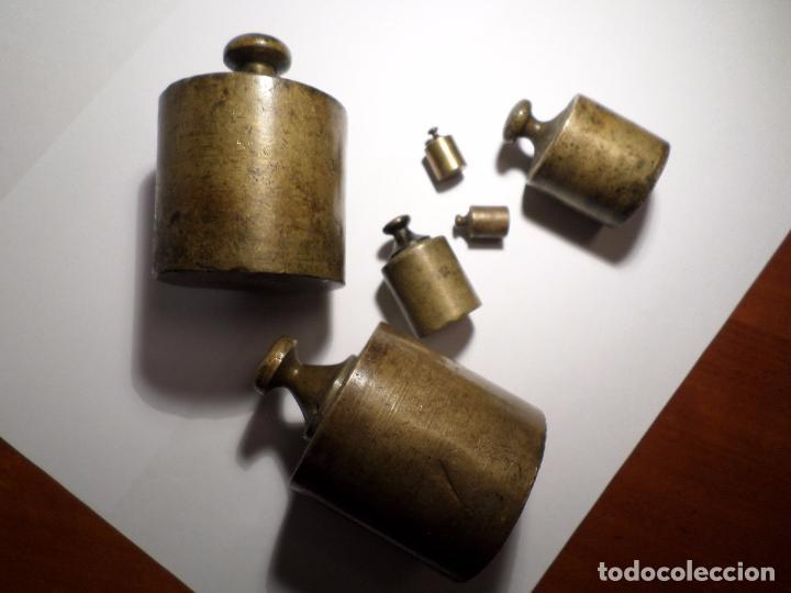 Antigüedades: JUEGO DE PESAS DE BRONCE - Foto 22 - 70471729