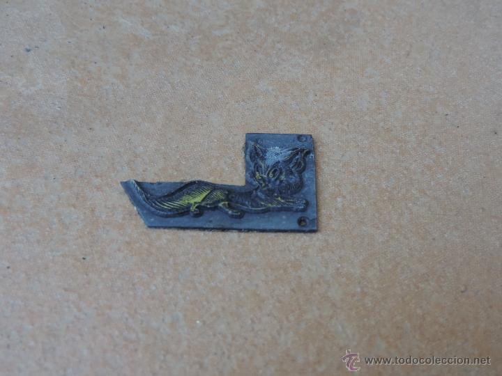Antigüedades: ANTIGUO SELLO / TAMPÓN CLICHÉ O PLANCHA IMPRENTA / CUÑO FUNDICION TIPOGRAFICO ZORRO DIBUJO ANIMADO - Foto 4 - 70472129