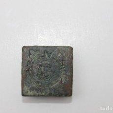 Antigüedades: RARO PONDERAL CON MARCAS DE CASTILLA, DE 27 GRAMOS. Lote 70487213