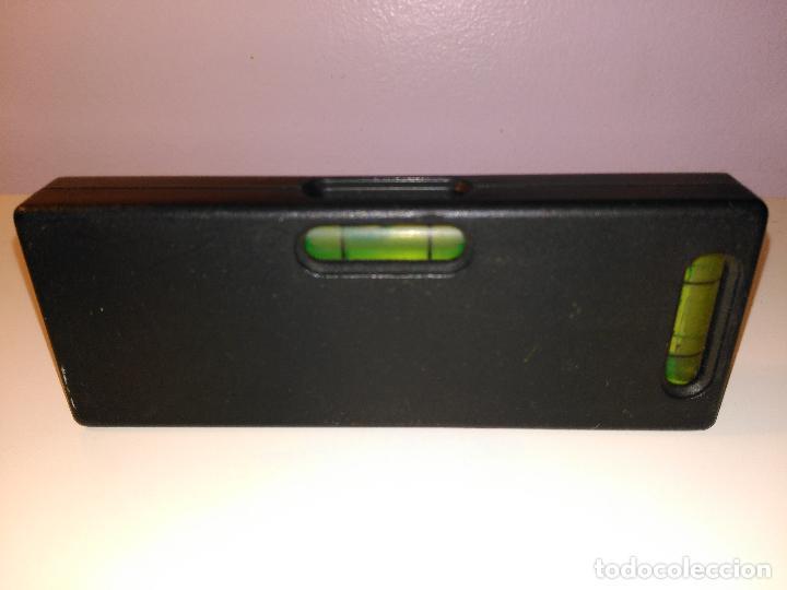 Antigüedades: pequeña regla niveladora con burbujas. instrumento de medición - Foto 3 - 70551809