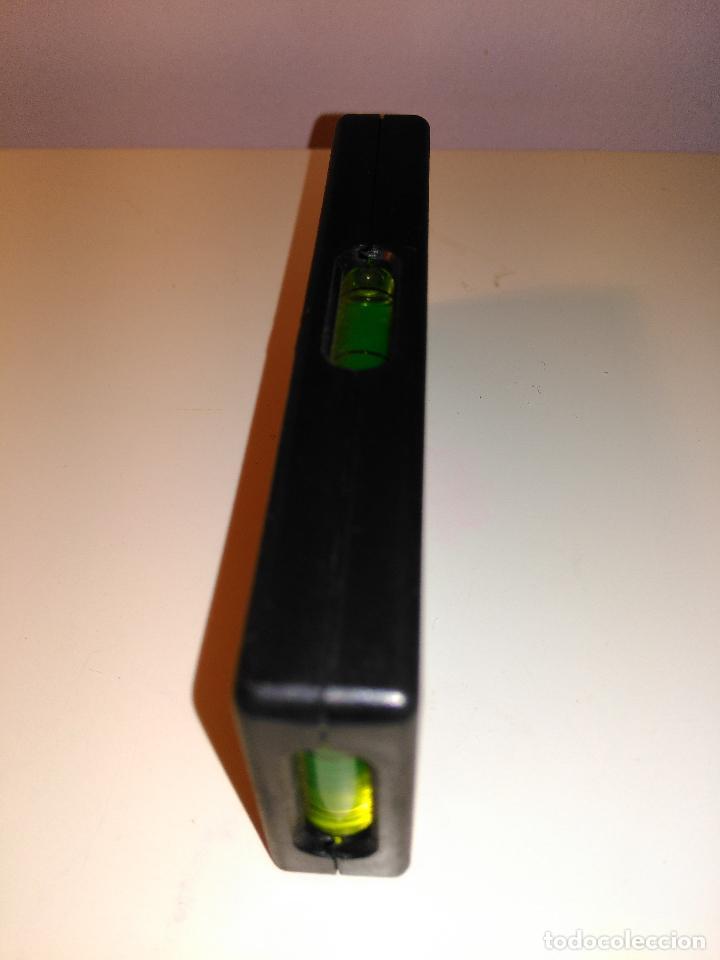 Antigüedades: pequeña regla niveladora con burbujas. instrumento de medición - Foto 4 - 70551809