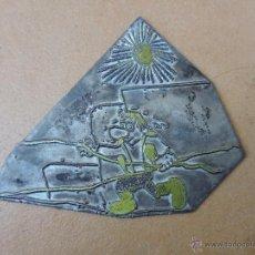 Antigüedades: SELLO / TAMPÓN CLICHÉ O PLANCHA IMPRENTA / CUÑO FUNDICION TIPOGRAFICO DIBUJO FUNAMBULISTA. Lote 70560361