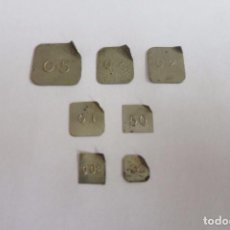Antigüedades: PESAS DIVISORIAS 7 PESAS. Lote 70593061