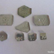 Antiquités: PESAS DIVISORIAS EN MILIGRAMOS DE 500 A 10. Lote 70593209